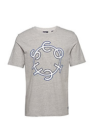 Scotch & Soda crew neck logo tee - GREY MELANGE