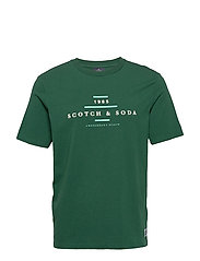 Scotch & Soda crew neck logo tee - JUNGLE GREEN
