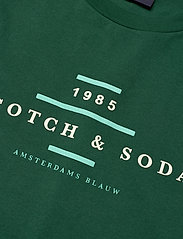 Scotch & Soda - Scotch & Soda crew neck logo tee - short-sleeved t-shirts - jungle green - 2