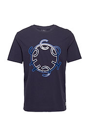 Scotch & Soda crew neck logo tee - NIGHT