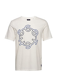 Scotch & Soda crew neck logo tee - OFF WHITE