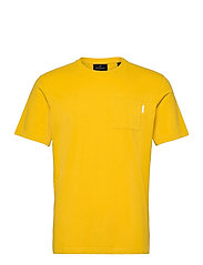Fabric dyed pocket tee - EXPLORER YELLOW