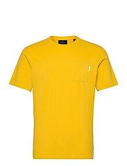 Fabric dyed pocket tee - EXPLORER YELLOW