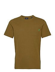 Fabric dyed pocket tee - MILITARY GREEN