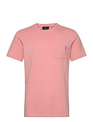 Fabric dyed pocket tee - PINK SMOKE