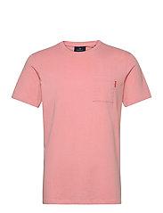 Fabric dyed pocket tee - PINK SMOKE