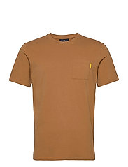 Fabric dyed pocket tee - TOBACCO