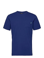 Fabric dyed pocket tee - YINMIN BLUE