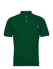 Garment dye polo - JUNGLE GREEN