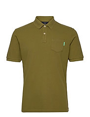 Garment dye polo - MILITARY GREEN