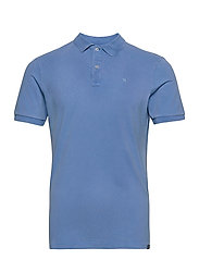 Garment dyed stretch polo - INFINITE BLUE