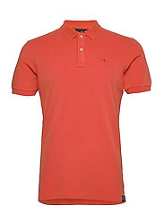 Garment dyed stretch polo - ORANGE SHELL