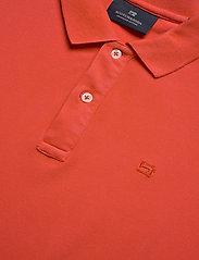 Scotch & Soda - Garment dyed stretch polo - short-sleeved polos - orange shell - 2