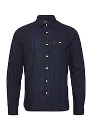 Oxford long sleeve shirt with prints and yarn dyed stripes - COMBO B
