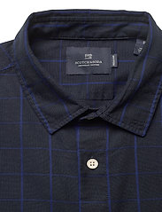 Scotch & Soda - Oxford long sleeve shirt with prints and yarn dyed stripes - checkered shirts - combo b - 2
