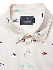 Scotch & Soda - Oxford long sleeve shirt with prints and yarn dyed stripes - checkered shirts - combo c - 2
