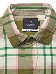 Scotch & Soda - Longsleeve shirt in mid weight flannel - checkered shirts - combo a - 2