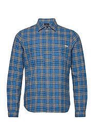 Longsleeve shirt in mid weight flannel - COMBO B