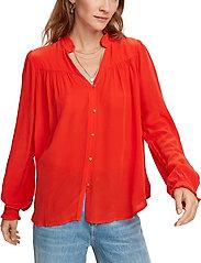 Scotch & Soda - Feminine shirt with pleated detailing - chemises à manches longues - orange shell - 0