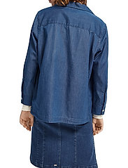 Scotch & Soda - Ams Blauw chic denim shirt with island collar - chemises en jeans - indigo - 4