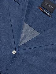 Scotch & Soda - Ams Blauw chic denim shirt with island collar - chemises en jeans - indigo - 2