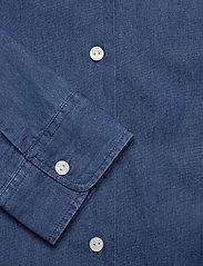 Scotch & Soda - Ams Blauw chic denim shirt with island collar - chemises en jeans - indigo - 3