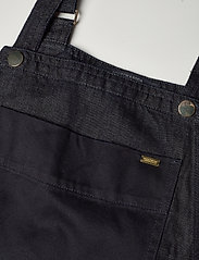 Scotch & Soda - Ams Blauw Indigo dungaree in cotton linen fabric - combinaisons - back in nimes - 2