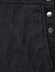 Scotch & Soda - Ams Blauw Indigo dungaree in cotton linen fabric - combinaisons - back in nimes - 3