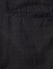 Scotch & Soda - Ams Blauw Indigo dungaree in cotton linen fabric - combinaisons - back in nimes - 4