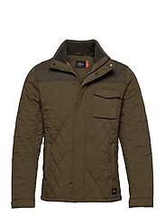 Classic short quilted jacket - MILITARY
