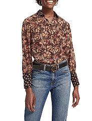 Scotch & Soda - Button through shirt in mixed prints - chemises à manches longues - combo a - 0