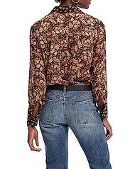 Scotch & Soda - Button through shirt in mixed prints - chemises à manches longues - combo a - 3