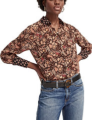 Scotch & Soda - Button through shirt in mixed prints - chemises à manches longues - combo a - 4