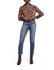 Scotch & Soda - Button through shirt in mixed prints - chemises à manches longues - combo a - 5