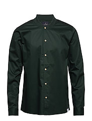 Long sleeve shirt with bomber collar - LAGOON GREEN
