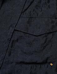Scotch & Soda - Wrap-over skirt in animal jacquard Tencel™ quality - omlottkjolar - night - 2