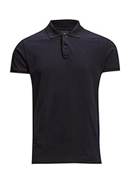 NOS - Classic garment dyed pique polo - 58 NIGHT