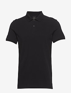 - Classic polo in pique quality with clean outlook - kortærmede - black
