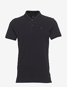 - Classic polo in pique quality with clean outlook - kortærmede - night
