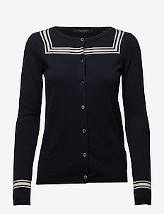 Basic cardigan with sailor detailling - 57 NAVY