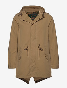 Summer parka in cotton canvas quality - SAND