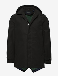 Classic hooded parka - BLACK