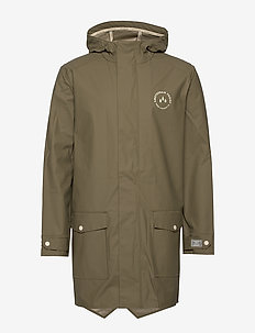 Amsterdam Proof raincoat in parka styling - SAGE