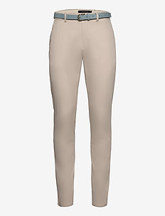 Classic chino in stretch cotton quality - STONE