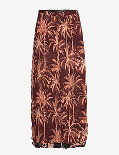 Extra wide sheer pants with layered prints - COMBO B