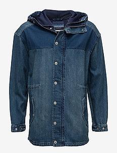 Ams Blauw denim jacket - denimjakker - denim blue