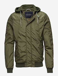 Ams Blauw worked out bomber jacket - MILITARY GREEN