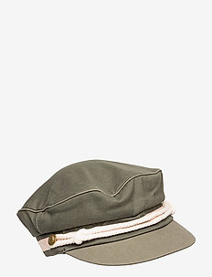 Cotton peached cap in seasonal shades - OLIVE GREEN