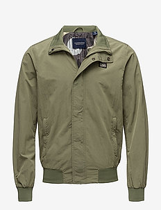 Simple Ams Blauw harrington jacket - MILITARY GREEN