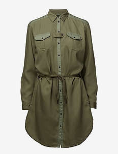 Utility shirt dress - MILITARY GREEN